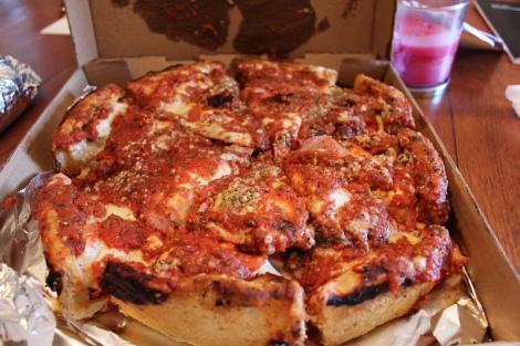 R&B Chicago Deep Dish Carnivore Pizza