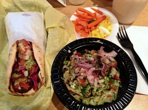 Falafel Sandwich at Pita Bar & Grill