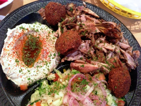 Shawarma plate at Pita Bar & Grill